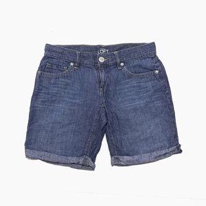 Ann Taylor Loft Denim Linen Short 27 waist size 00